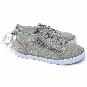 Cat & Jack Dayja Gray Silver Speckle Sneakers 11